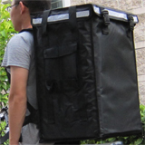 "PK-86V: Insulate food carrier, pizza delivery backpack with big capacity, 16"" L x 13"" W x 24"" H"